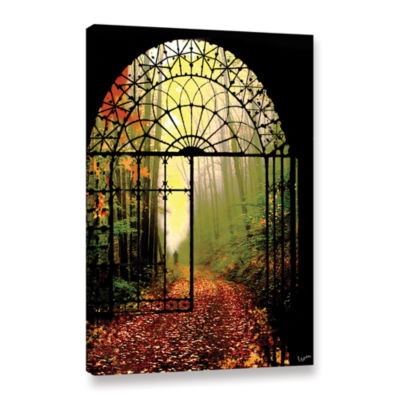 Brushstone Gates Of Autumn Gallery Wrapped Canvas