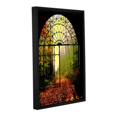 Brushstone Gates Of Autumn Gallery Wrapped Floater-Framed Canvas