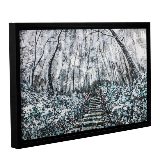 Brushstone Frozen Memories Gallery Wrapped Floater-Framed Canvas