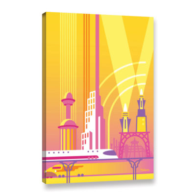 Brushstone Future Gallery Wrapped Canvas