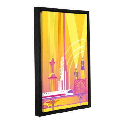 Brushstone Future Gallery Wrapped Floater-Framed Canvas