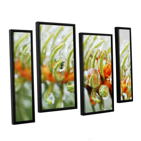 Brushstone Ice On Pine 4-pc. Floater Framed Staggered Canvas Wall Art