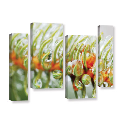 Brushstone Ice On Pine 4-pc. Gallery Wrapped Staggered Canvas Wall Art