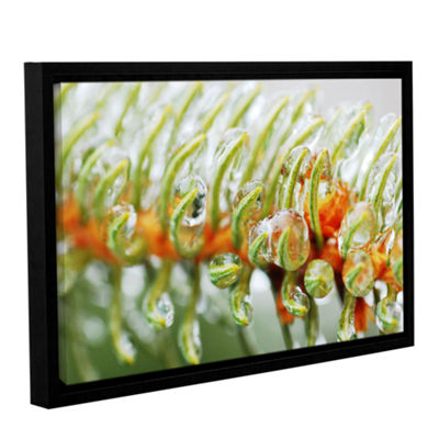 Brushstone Ice On Pine Gallery Wrapped Floater-Framed Canvas Wall Art