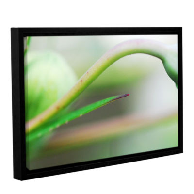 Brushstone Green Gooseneck Gallery Wrapped Floater-Framed Canvas Wall Art