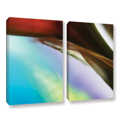 Brushstone Veiled Stem 2-pc. Gallery Wrapped Canvas Wall Art