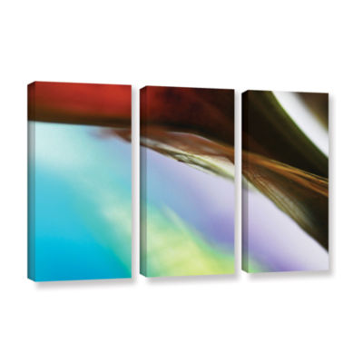 Brushstone Veiled Stem 3-pc. Gallery Wrapped Canvas Wall Art