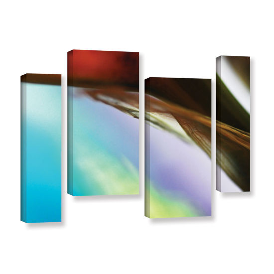 Brushstone Veiled Stem 4-pc. Gallery Wrapped Staggered Canvas Wall Art