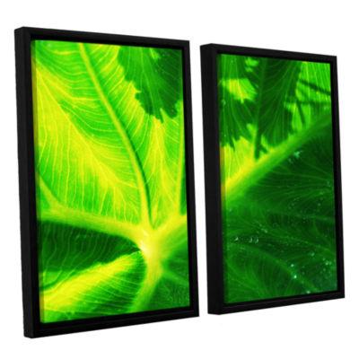 Brushstone Green On Green 2-pc. Floater Framed Canvas Wall Art