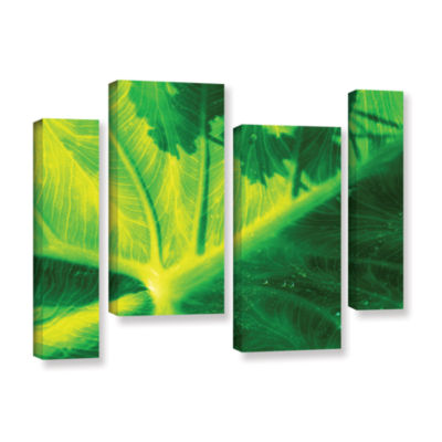 Brushstone Green On Green 4-pc. Gallery Wrapped Staggered Canvas Wall Art
