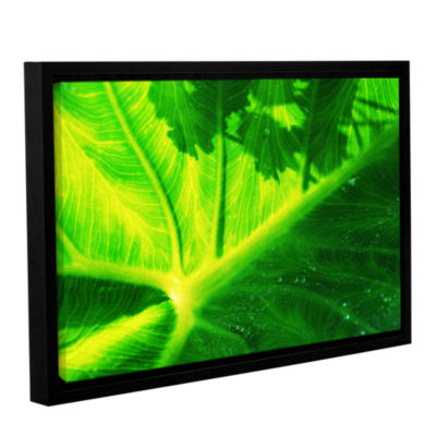Brushstone Green On Green Gallery Wrapped Floater-Framed Canvas Wall Art