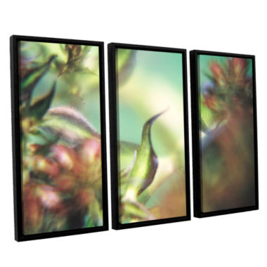 Brushstone Phlox Old Masters 3-pc. Floater FramedCanvas Wall Art