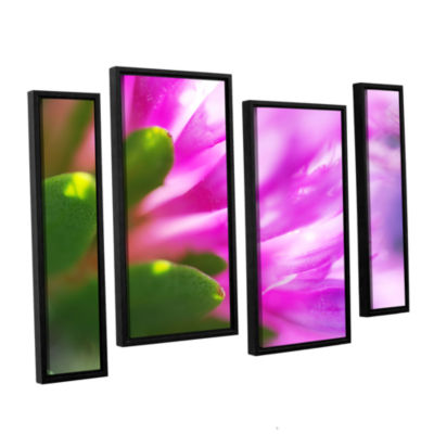 Brushstone Phlox On Edge 4-pc. Floater Framed Staggered Canvas Wall Art