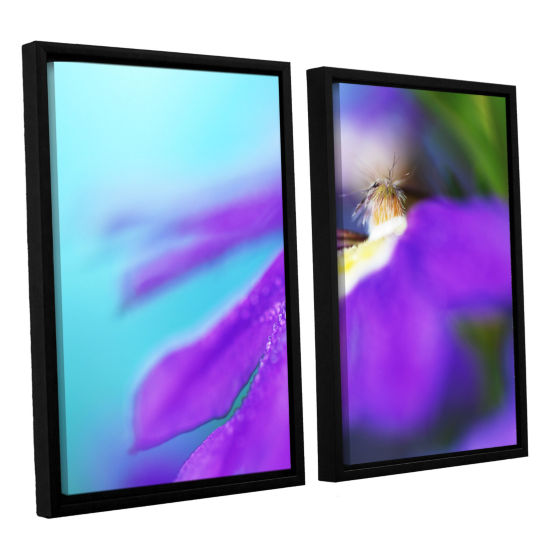Brushstone Purple Center 2-pc. Floater Framed Canvas Wall Art