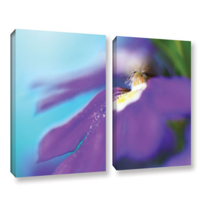 Brushstone Purple Center 2-pc. Gallery Wrapped Canvas Wall Art