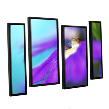 Brushstone Purple Center 4-pc. Floater Framed Staggered Canvas Wall Art