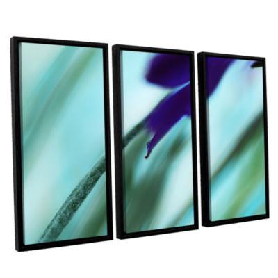Brushstone Purple Watercolor 3-pc. Floater FramedCanvas Wall Art