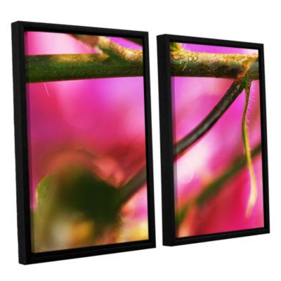 Brushstone Summer Dew 2-pc. Floater Framed CanvasWall Art