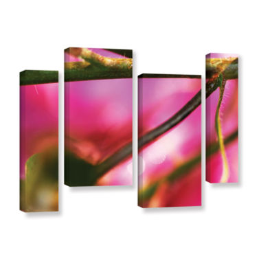 Brushstone Summer Dew 4-pc. Gallery Wrapped Staggered Canvas Wall Art