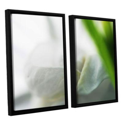 Brushstone White Petal 2-pc. Floater Framed CanvasWall Art