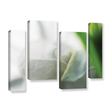 Brushstone White Petal 4-pc. Gallery Wrapped Staggered Canvas Wall Art
