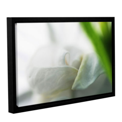Brushstone White Petal Gallery Wrapped Floater-Framed Canvas Wall Art