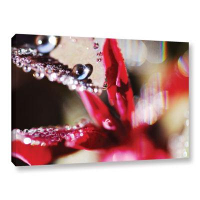 Brushstone Reaching For Raindrops Gallery WrappedCanvas Wall Art