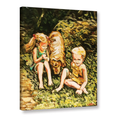 Brushstone Golden Days Gallery Wrapped Canvas