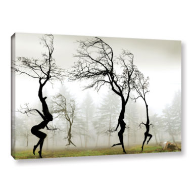 Brushstone In The Mist Gallery Wrapped Canvas