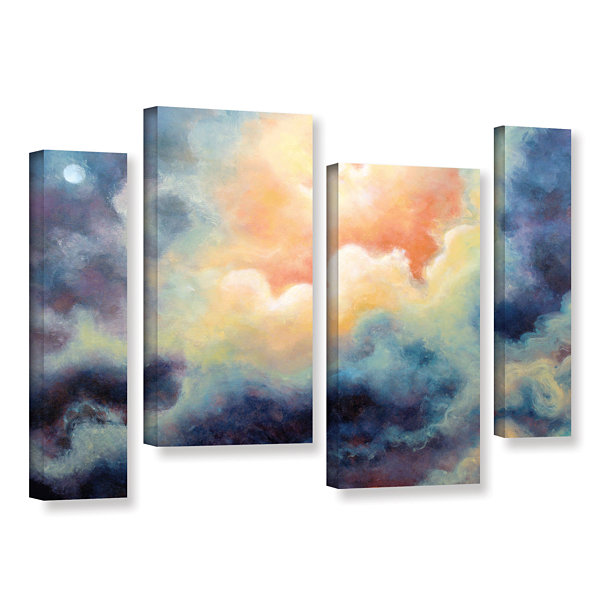 Brushstone In the Pink 4-pc. Gallery Wrapped Canvas Staggered Set