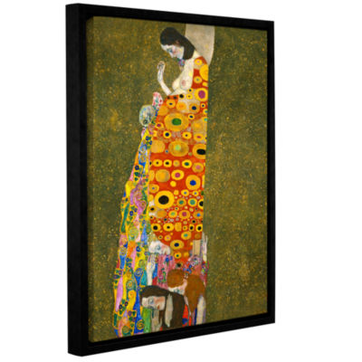 Brushstone Hopeful Gallery Wrapped Floater-FramedCanvas Wall Art