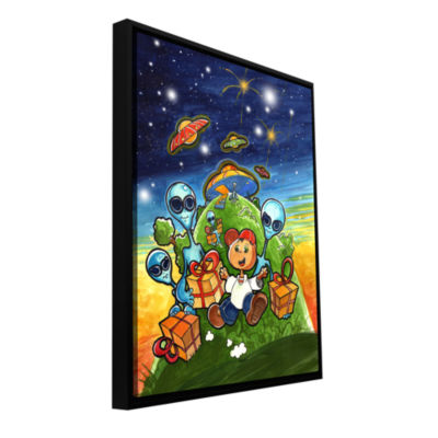 Brushstone Happy Birthday Gallery Wrapped Floater-Framed Canvas Wall Art