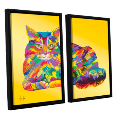 Brushstone Giles 2-pc. Floater Framed Canvas Set