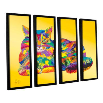 Brushstone Giles 4-pc. Floater Framed Canvas Set