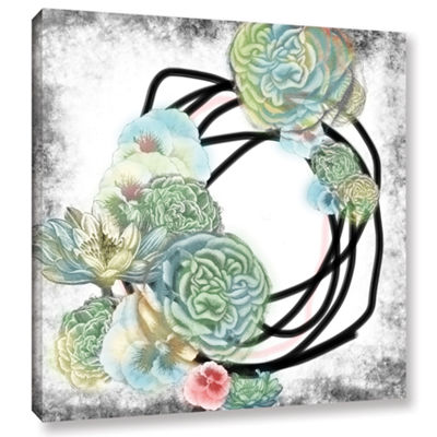 Brushstone Green Flowers Gallery Wrapped Canvas Wall Art