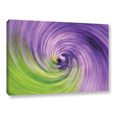 Brushstone Heather Spiral Gallery Wrapped Canvas Wall Art