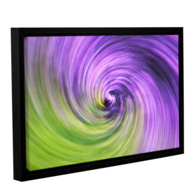 Brushstone Heather Spiral Gallery Wrapped Floater-Framed Canvas Wall Art