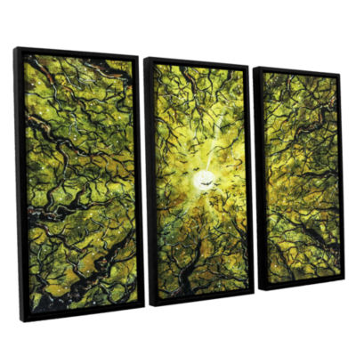 Brushstone Hallow's Prelude 3-pc. Floater Framed Canvas Wall Art
