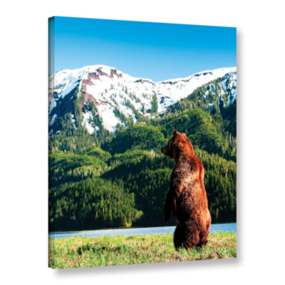 Brushstone Grizzly Alert Gallery Wrapped Canvas Wall Art