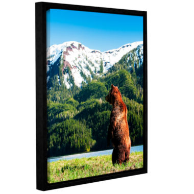 Brushstone Grizzly Alert Gallery Wrapped Floater-Framed Canvas Wall Art