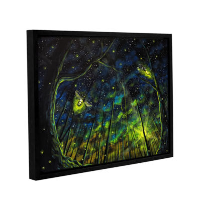 Brushstone Light Up The Night Gallery Wrapped Floater-Framed Canvas Wall Art