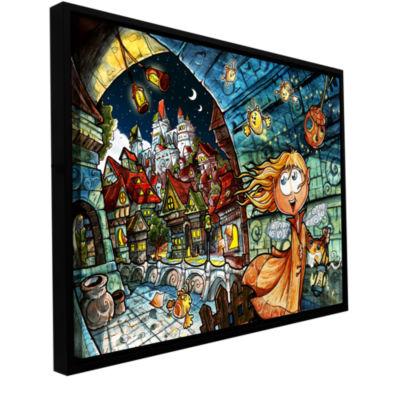 Brushstone Lighthouse Elf Village Gallery WrappedFloater-Framed Canvas Wall Art