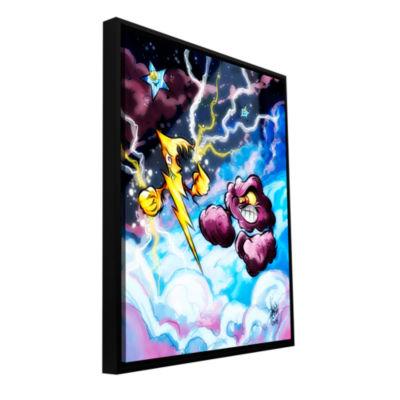 Brushstone Lightning Gallery Wrapped Floater-Framed Canvas Wall Art