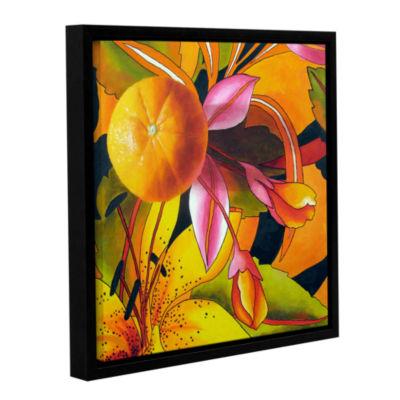 Brushstone Love Of Orange Gallery Wrapped Floater-Framed Canvas Wall Art