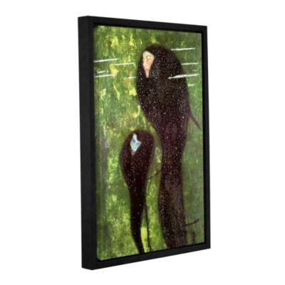 Brushstone Mermaids Gallery Wrapped Floater-FramedCanvas Wall Art