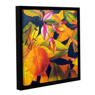 Brushstone Love That Orange Gallery Wrapped Floater-Framed Canvas Wall Art