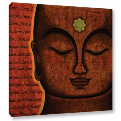 Brushstone Love (013) Removable Gallery Wrapped Canvas Wall Art