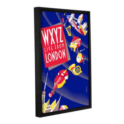 Brushstone London (Instruments) Gallery Wrapped Floater-Framed Canvas Wall Art
