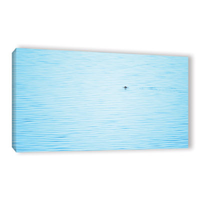 Brushstone Lonely Porpoise Gallery Wrapped CanvasWall Art