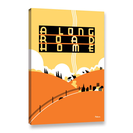 Brushstone Long Road Home Gallery Wrapped Canvas Wall Art